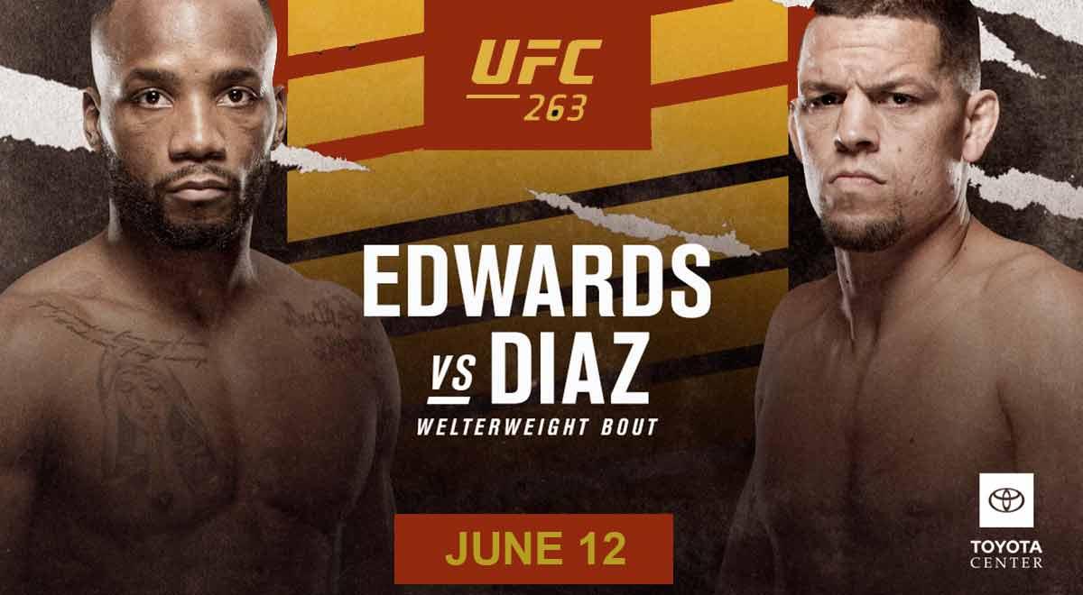 UFC 263: Leon Edwards venció a Nate Diaz por decisión unánime en la primera coestelar